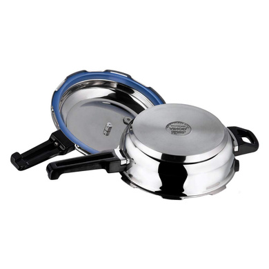 Vinod 18/8 Stainless Steel Pressure Pan with Lid (Induction Friendly)-Jumbo-2
