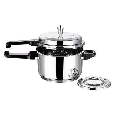 Vinod 18/8 Stainless Steel Pressure Cooker -5 Ltr (Induction Friendly)-1