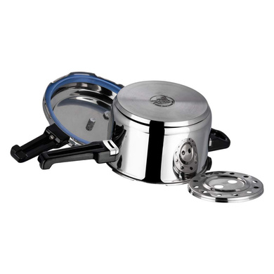 Vinod 18/8 Stainless Steel Pressure Cooker -5 Ltr (Induction Friendly)-3