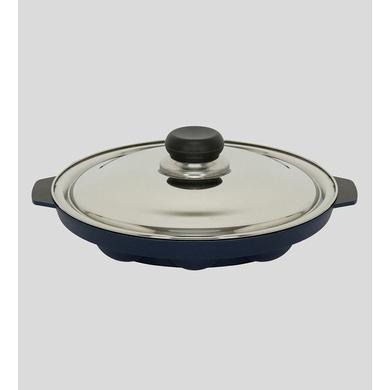 Vinod Cookware Non Stick Round Paniyarakkal with Lid, 22 cm, Aluminium-22cm-1