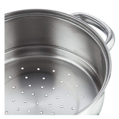 Vinod Stainless Steel 3 Tier Steamer with Glass Lid -20 cm (Induction Friendly)-3