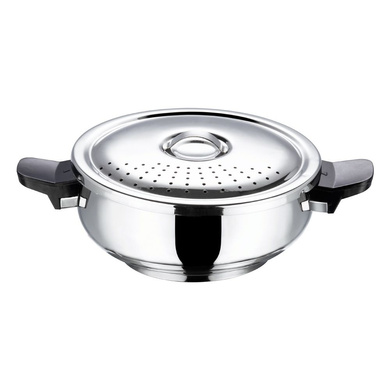Vinod 18/8 Stainless Steel Magic Pressure Cooker - (Induction Friendly)-3.5Ltr-1