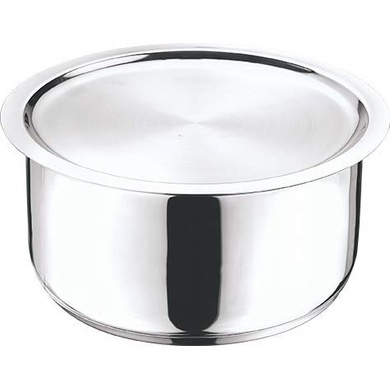 Vinod Cookware  Stainless Steel 304 Grade Tope With Lid (Induction Friendly) - 20cm/3Ltr-61874
