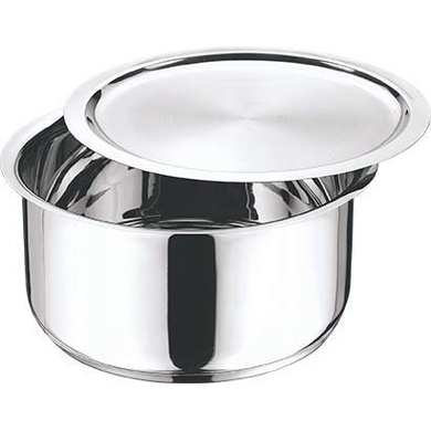 Vinod Cookware  Stainless Steel 304 Grade Tope With Lid (Induction Friendly) - 20cm/3Ltr-1