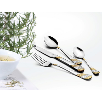 FNS  Imperio Cutlery Stainless Steel set with Baby Spoon set of 24pcs - IMST24HB-1