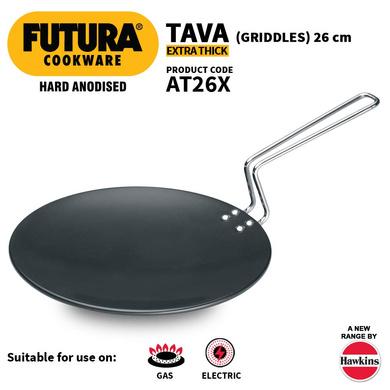 Hawkins Futura Hard Anodised Tawa, 26cm (L50)-26cm-1