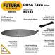 Hawkins Futura Non Stick Dosa Tawa, 33cm (Q41)-33cm-2-sm