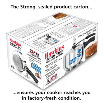 Hawkins Stainless Steel Induction Pressure cooker, 2 Litre(B25)-2ltr-3