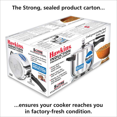 Hawkins Stainless Steel Induction Pressure cooker, 5 Litre(B30)-5ltr-3