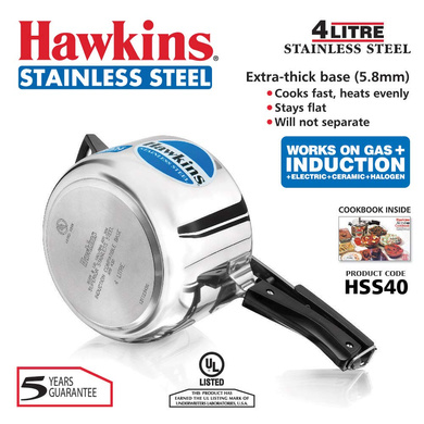 Hawkins Stainless Steel Induction Pressure cooker, 4 Litre(B45)-4ltr-2