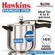 Hawkins Stainless Steel Induction Pressure cooker, 6 Litre(B65)-6ltr-1-sm