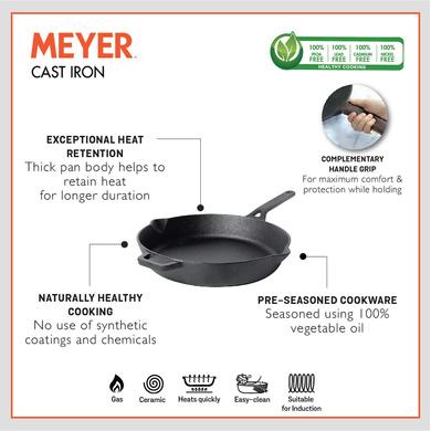 Meyer Induction Base Cast Iron Frying Pan, 20 cm(48121)-1