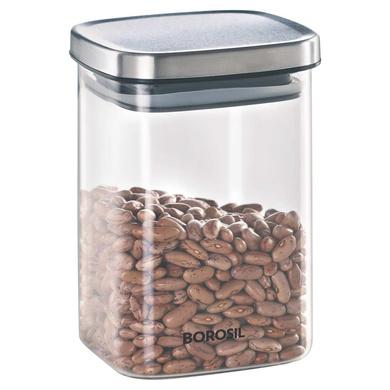 Borosil Classic Square Glass Jar, 1000ML-38898