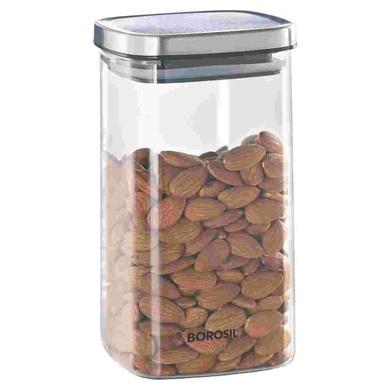 Borosil Classic Square Glass Jar, 1400ML-38899