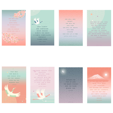'SHE' - DREAM MORE, BE MORE QUOTE CARDS-VT09