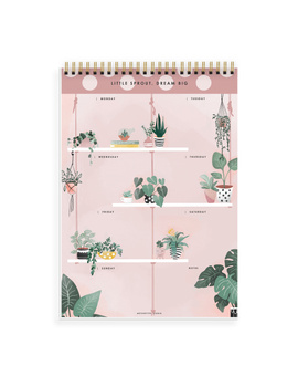 WEEKLY PLANNER - LITTLE SPROUT, DREAM BIG - Water Your Dreams