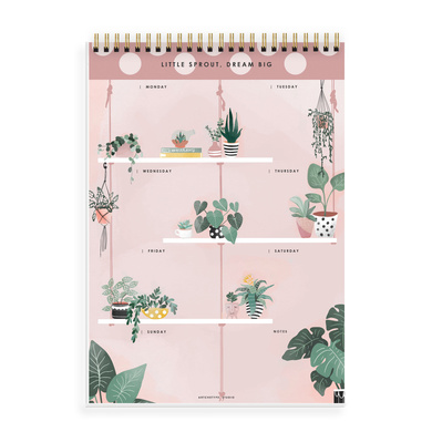 WEEKLY PLANNER - LITTLE SPROUT, DREAM BIG - Water Your Dreams-1
