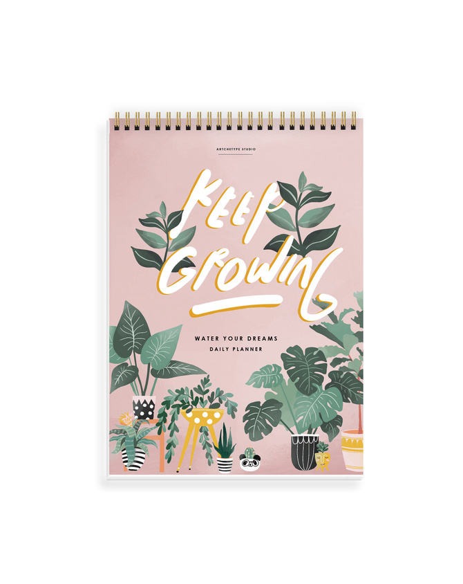 DAILY PLANNER- KEEP GROWING LIVE WELL- Water Your Dreams-TODOAP21-15