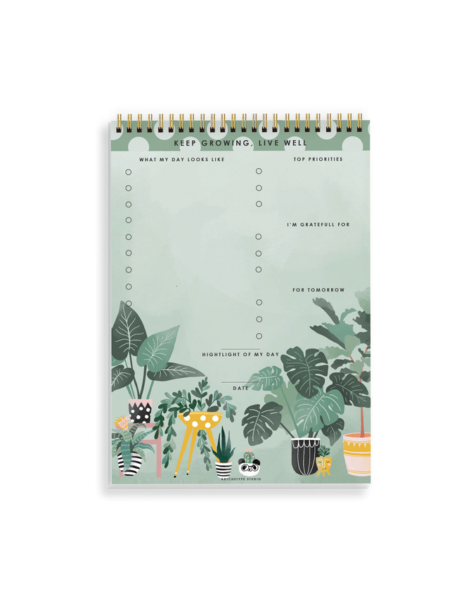 DAILY PLANNER- KEEP GROWING LIVE WELL- Water Your Dreams-1