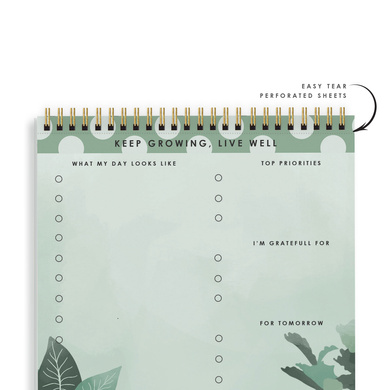 DAILY PLANNER- KEEP GROWING LIVE WELL- Water Your Dreams-2