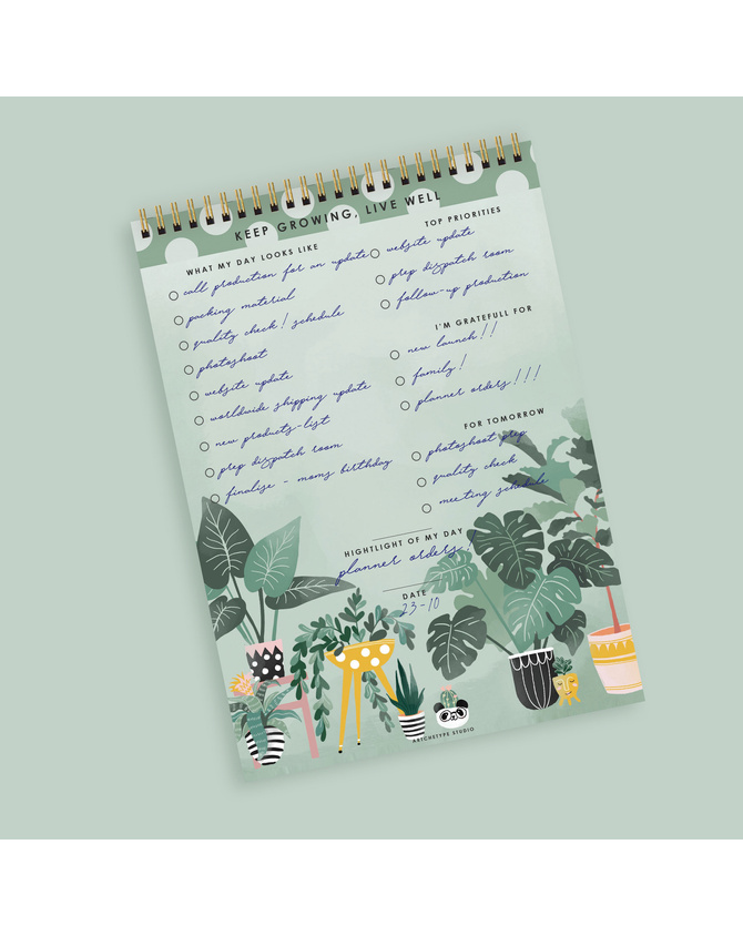 DAILY PLANNER- KEEP GROWING LIVE WELL- Water Your Dreams-3
