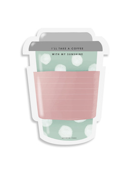 STICKY NOTES PAD - Coffee-on-the-go - Blush & Mint