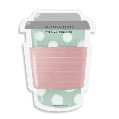 STICKY NOTES PAD - Coffee-on-the-go - Blush & Mint-STICKYAP21-19