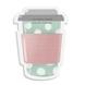STICKY NOTES PAD - Coffee-on-the-go - Blush & Mint-STICKYAP21-19-sm