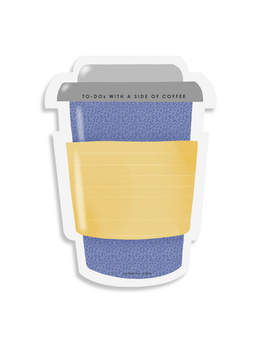 STICKY NOTES PAD - Coffee-on-the-go - Lemon & Periwinkle