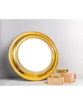 RADIANCE GOLD ROUND MIRROR - 18 inches