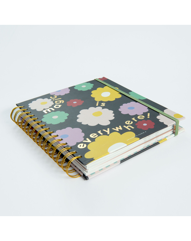 2022 Magical Blooms Wire-O Bound Annual Planner   Pre-order Edition-3