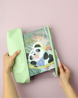 Cute ft. Cubo Planner Kit 02-  Wire-O Bound Annual Planner + Pen Pouch with Elastic Strap