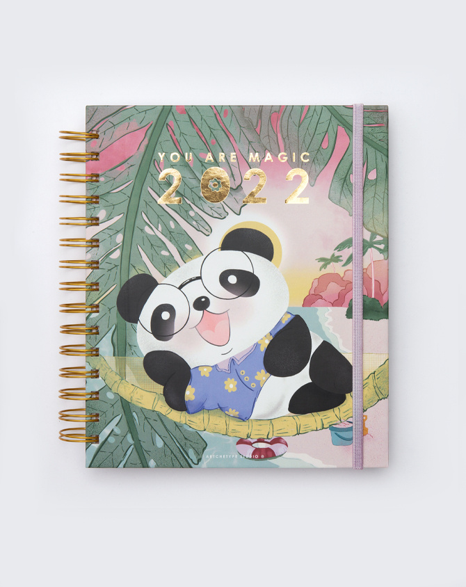 2022 Cute ft. Cubo Wire-O Bound Annual Planner | Pre-order Edition-AP2205