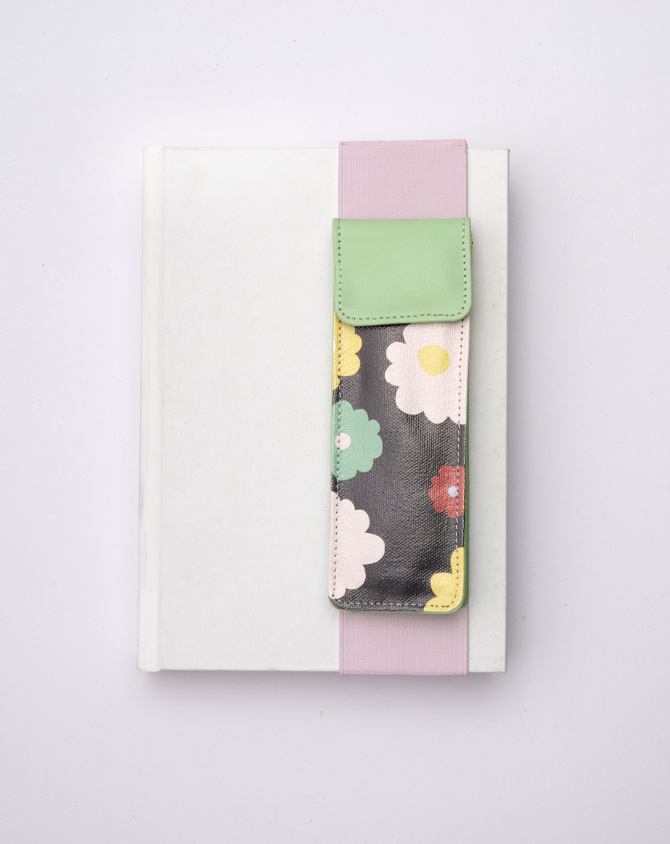Magical Blooms Planner Kit 08-  Wire-O Annual Planner + Pen Pouch with Elastic Strap-3