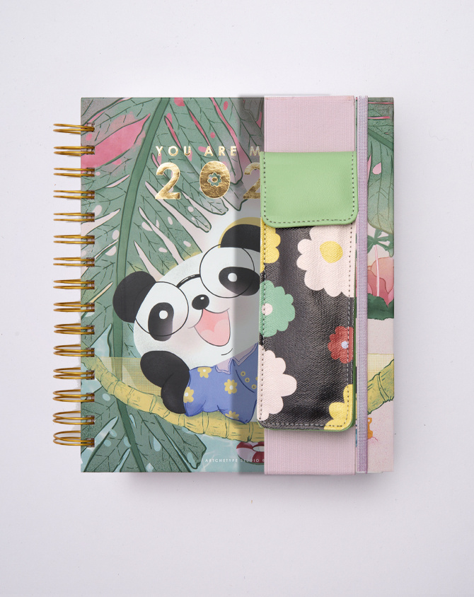 Magical Blooms Pen Pouch with Elastic Strap-2