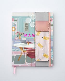 Work It Planner Kit 05-  Hardbound Annual Planner + Pen Pouch with Elastic Strap