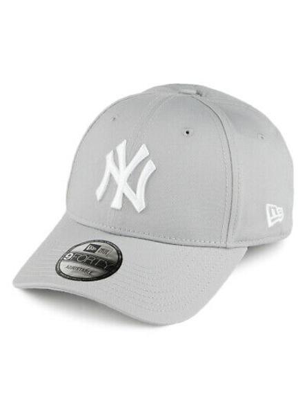 NEW ERA 9Forty League Basic New York Adjustable , Grey-4