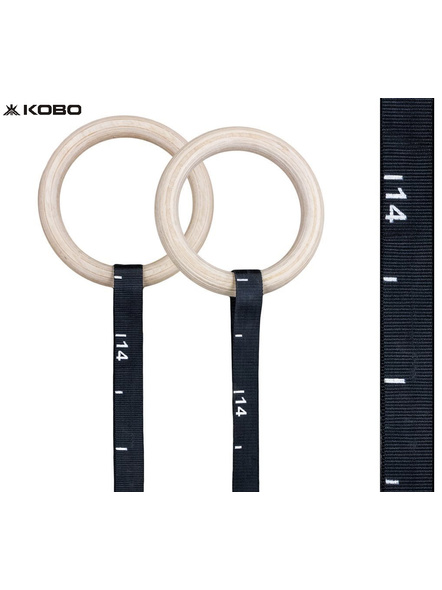 Kobo Fitness Gymnastics Rings/Roman Ring with Straps & Buckles for Cross Fitness Functional Training and Total Body Conditioning at Home (Imported)-4