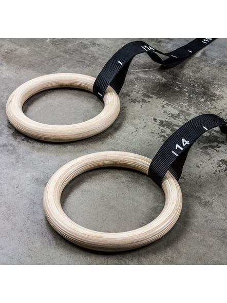 Kobo Fitness Gymnastics Rings/Roman Ring with Straps & Buckles for Cross Fitness Functional Training and Total Body Conditioning at Home (Imported)-3
