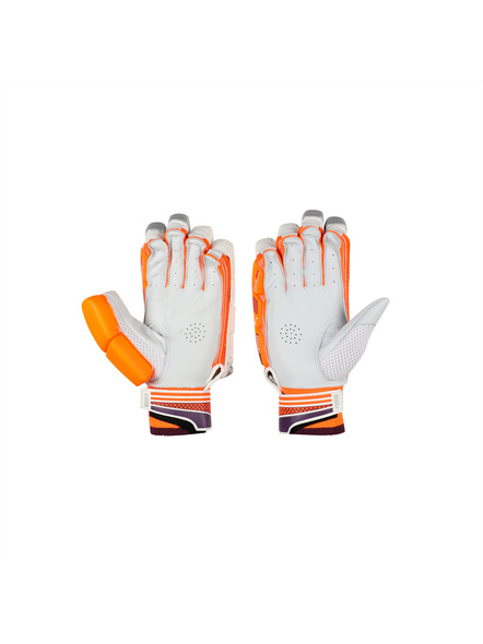 PUMA 041367 BATTING GLOVES-White-orange-BOYS LH-3