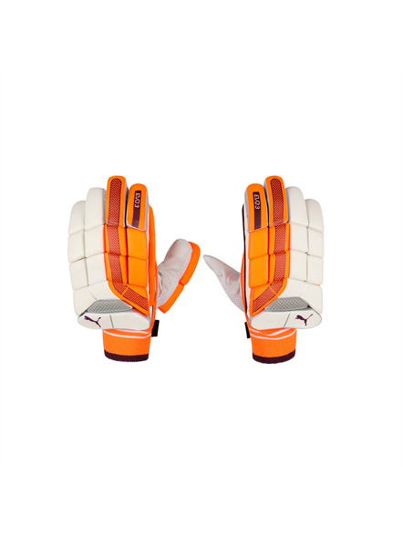 PUMA 041367 BATTING GLOVES-White-orange-BOYS LH-4