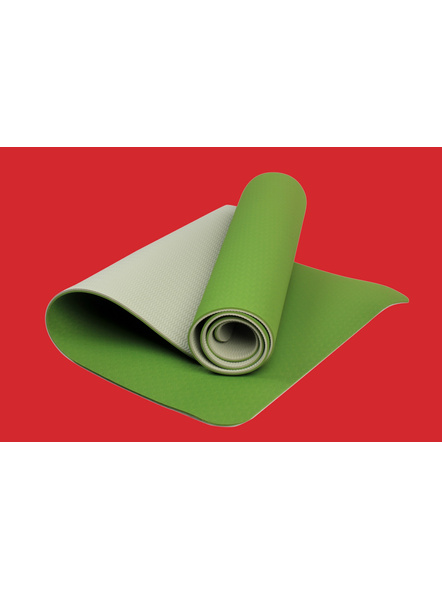 AIRAVAT TPE 6 MM SINGLE YOGA MAT (Colour may vary)-6 MM-DARK GREEN-4