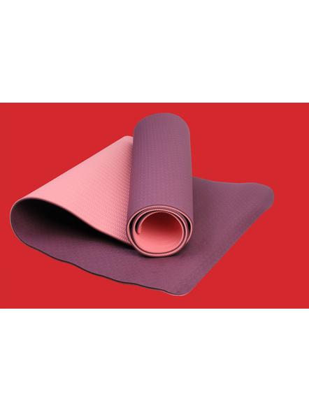 AIRAVAT TPE 6 MM SINGLE YOGA MAT (Colour may vary)-6 MM-PURPLE-3