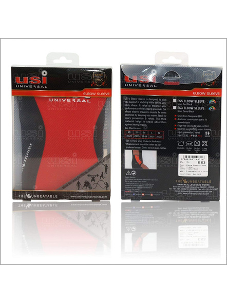 USI ES5 ELBOW SUPPORT-RED BLACK-S-5