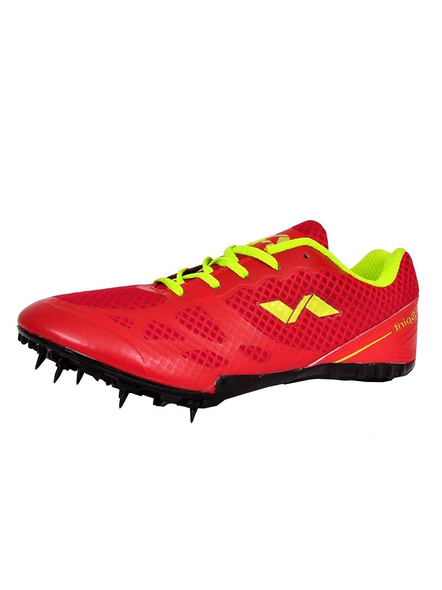 Nivia Men's Spikes Spirit Synthetic Running Shoes-9-RED-3