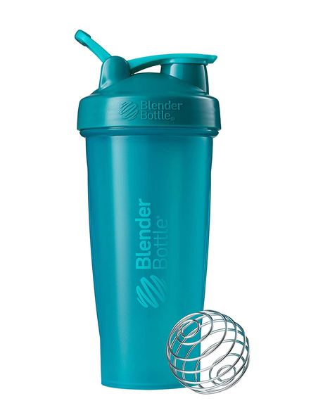 BlenderBottle C01630 Plastic Classic Loop Top Shaker Bottle, 825 ml-TEAL-3