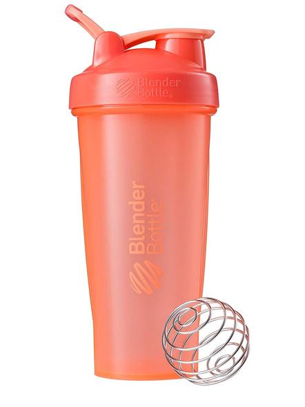 BlenderBottle C01632 Plastic Classic Loop Top Shaker Bottle, 825 ml-CORAL-3