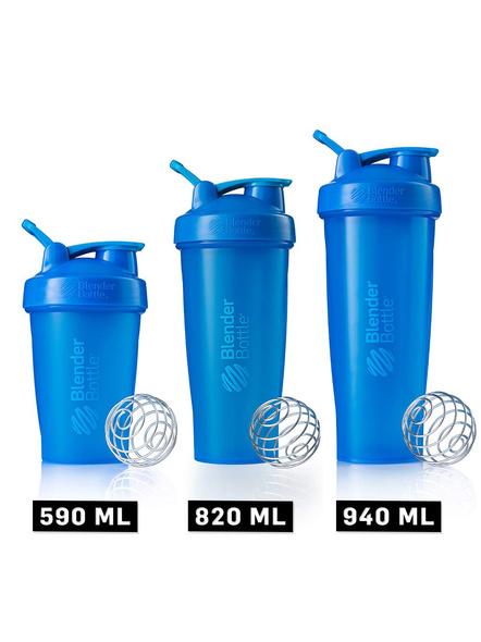 BlenderBottle C01639 Plastic Classic Loop Top Shaker Bottle, 945 ml-CYAN-5