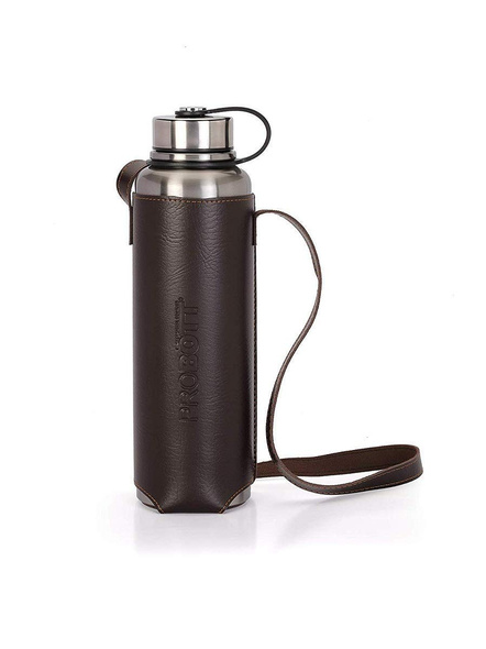 PROBOTT Thermosteel Hulk Vacuum Flask with Carry Bag 1100ml PB 1100-02 (Colour May Vary)-SILVER-4