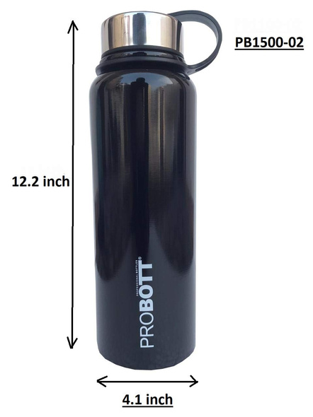Probott Thermosteel Thermos Flask Water Bottle 1500 ml (PB1500-02) (Colour May Vary)-BLACK-5